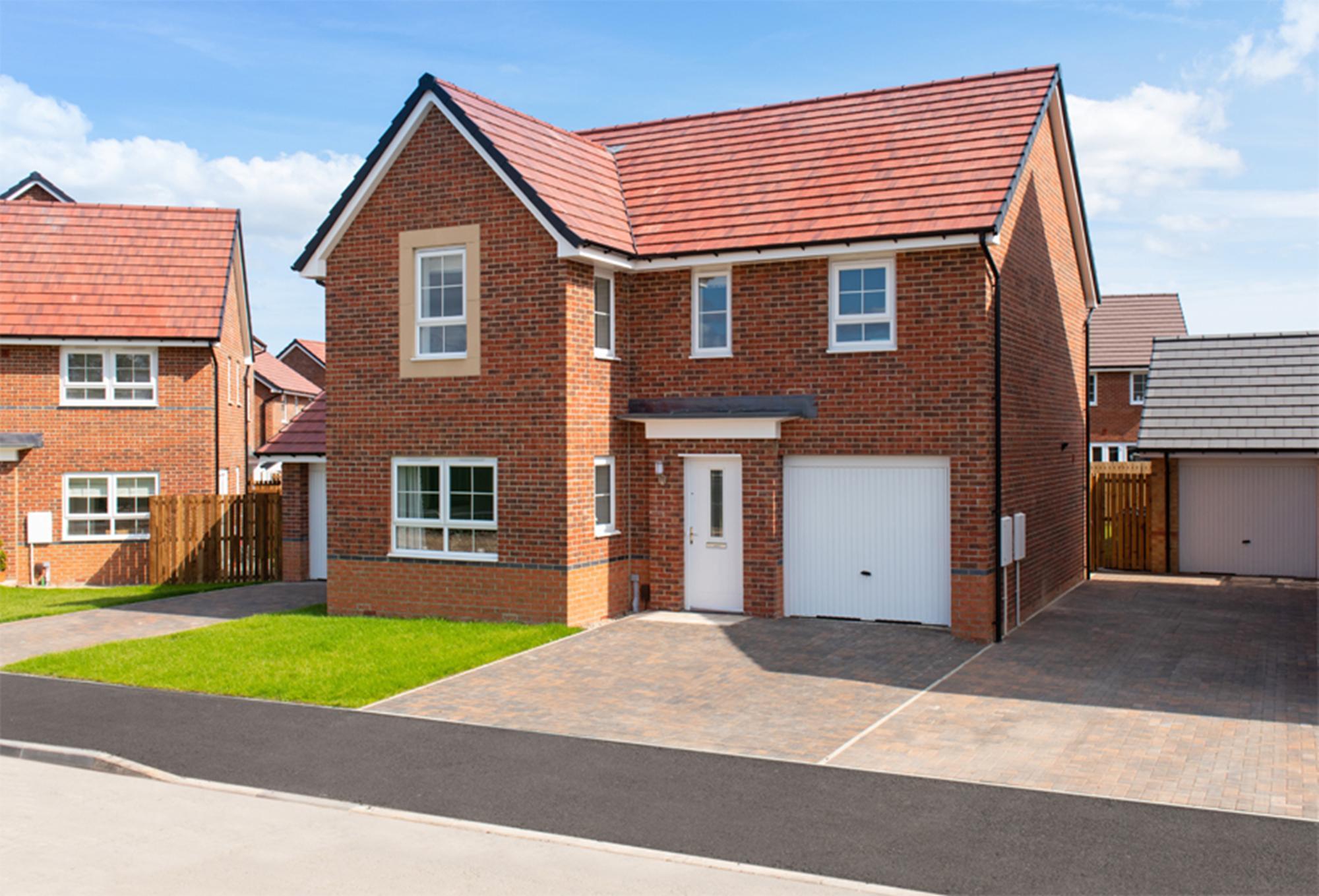 New Build Homes at Halton in in HEBBURN