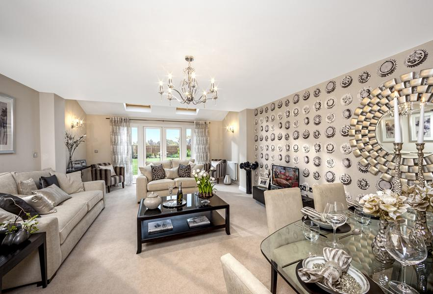 The Woodvale living/dining room