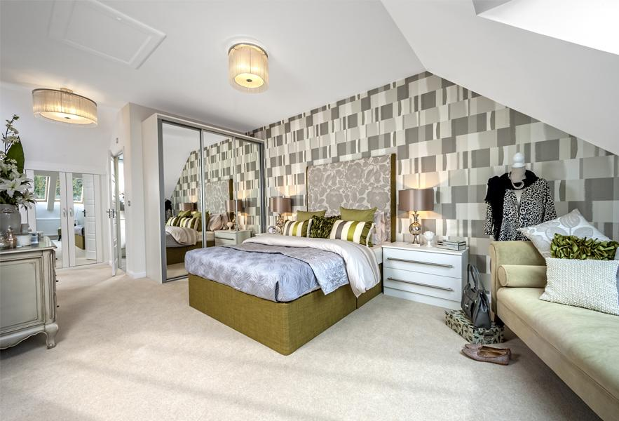 Woodvale show home master bedroom at Locksbridge Park, Andover