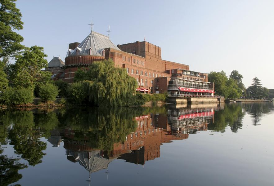 View of the Royal Shakespeare Theatre across the River Avon