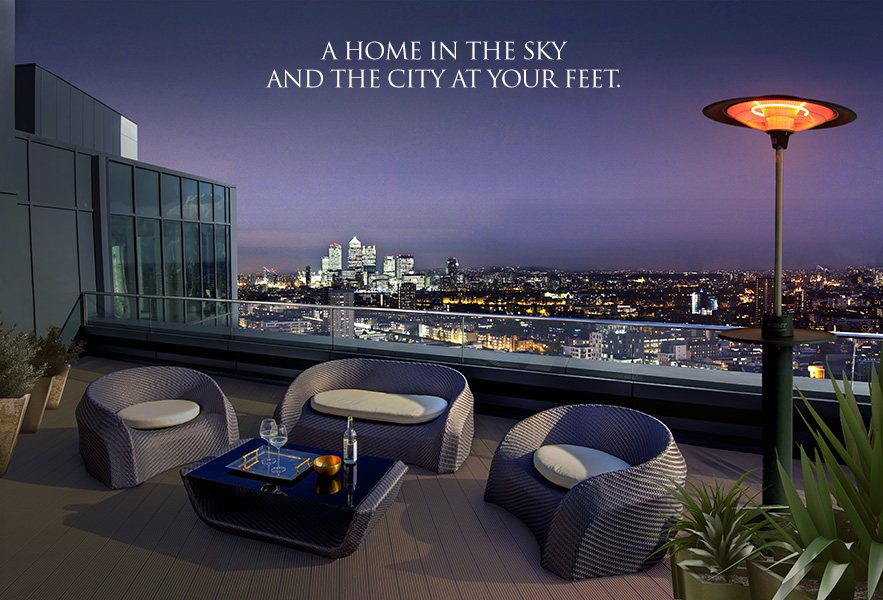 Altitude Penthouse Roof Terrace with caption
