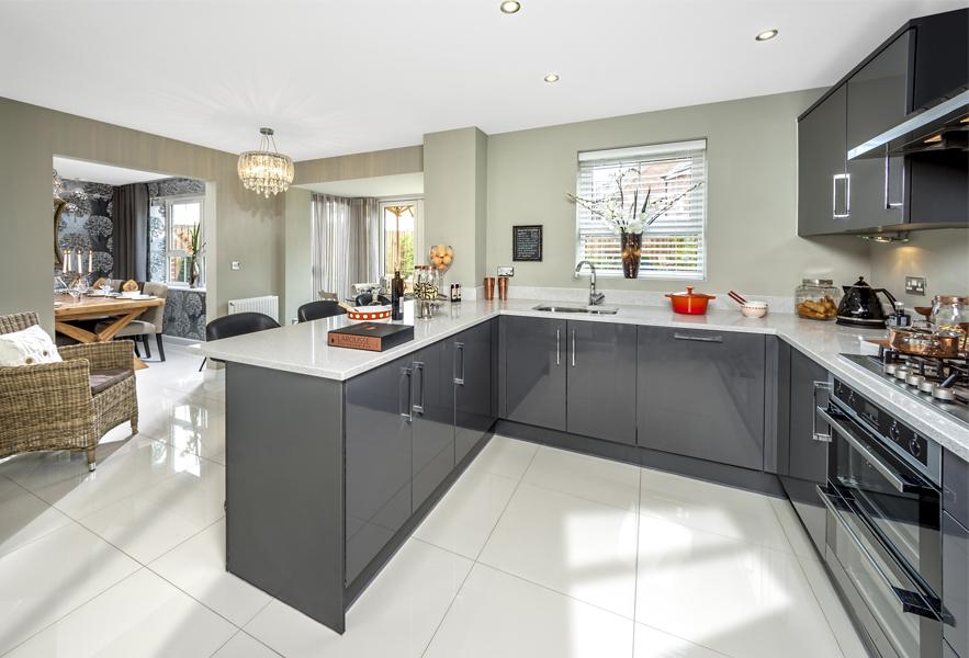 The Cambridge show home kitchen