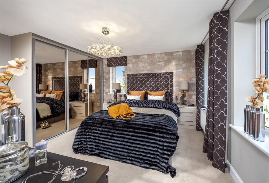The Cambridge master bedroom
