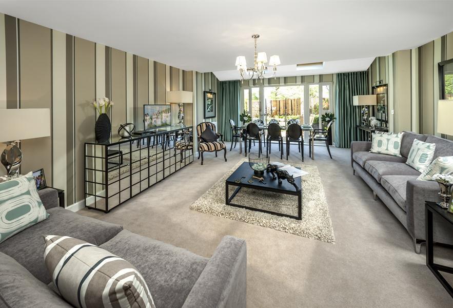 Woodvale living room at Montague Park, Wokingham