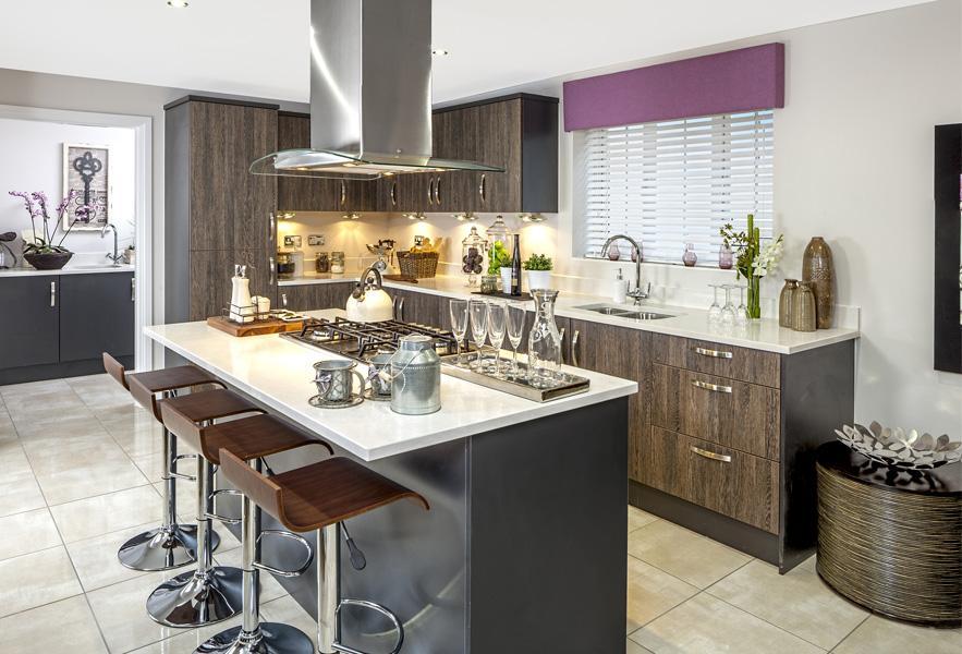 The Kemsbury show home kitchen