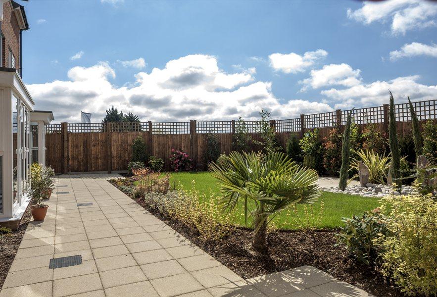 Landscaped garden at Phoenix Quarter, Dartford