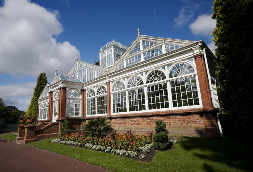 Conservatory of plants at West Park