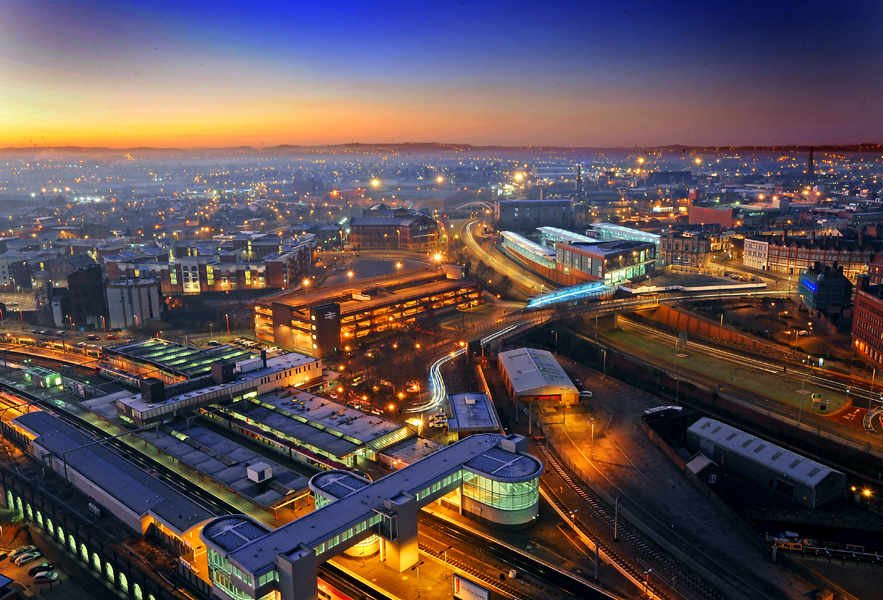 Views over Wolverhampton at night