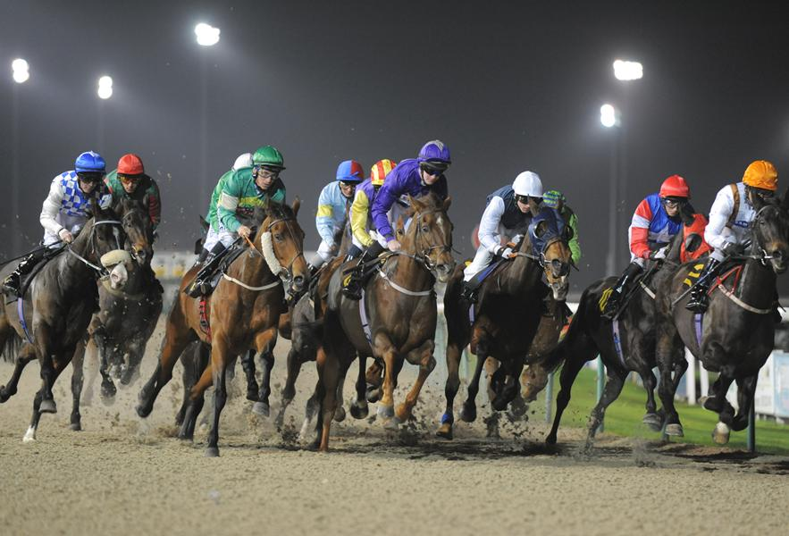 Wolverhampton Racecourse at night