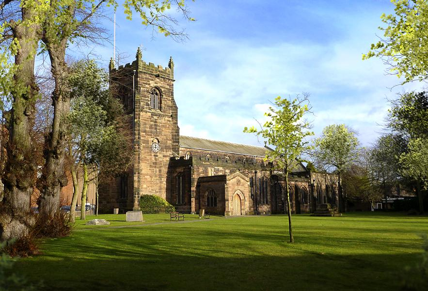 St Luke`s Church in nearby Cannock