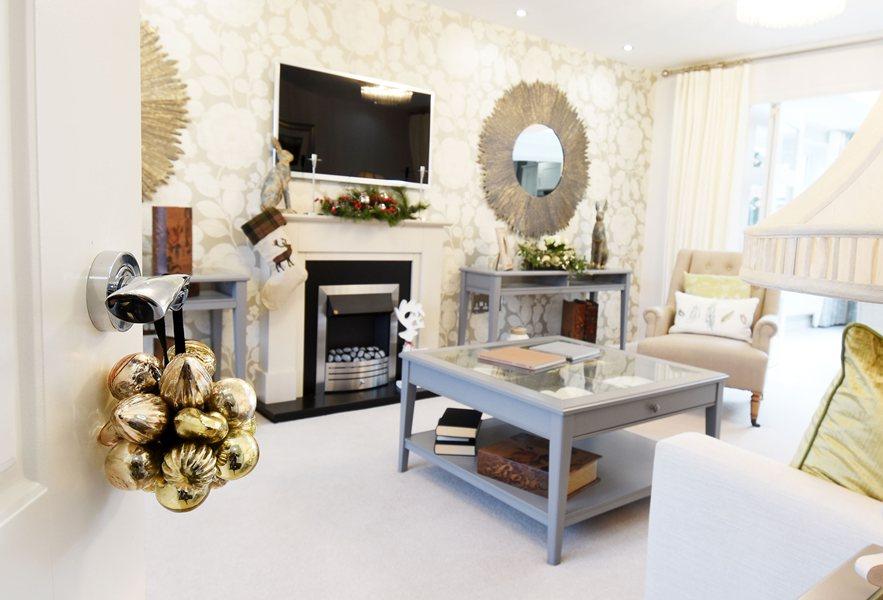 A Barratt home decorated for Christmas