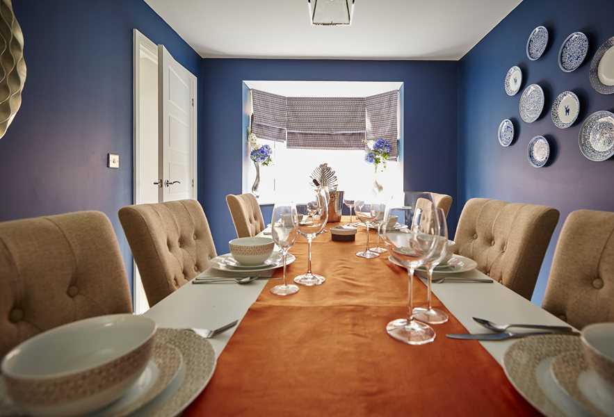 Honeysuckle Grange Thame show home separate dining room