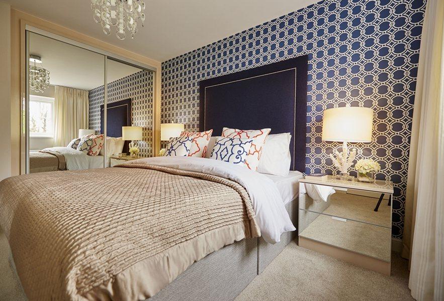 Honeysuckle Grange Thame show home master bedroom