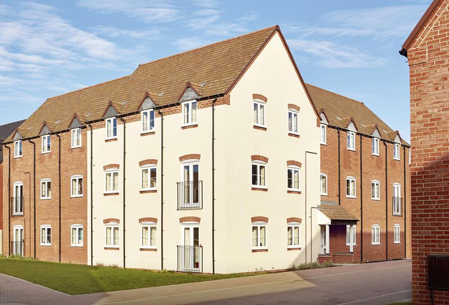 Modern three storey homes at Longford Park in Banbury