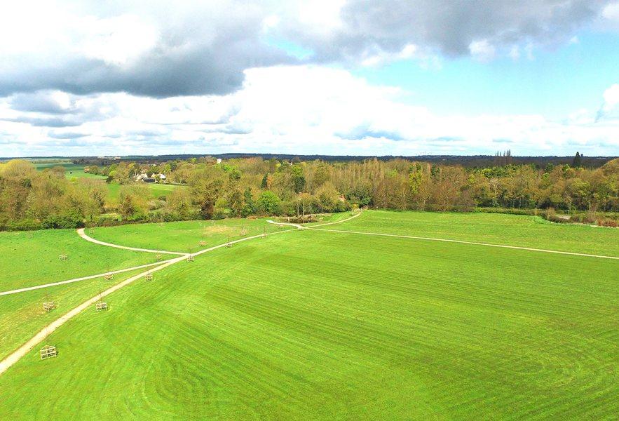 Trumpington Meadows drone view