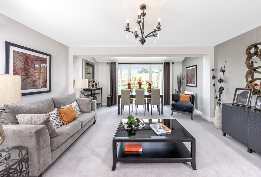 Show home living/dining room at Beaufort Place, Crawley