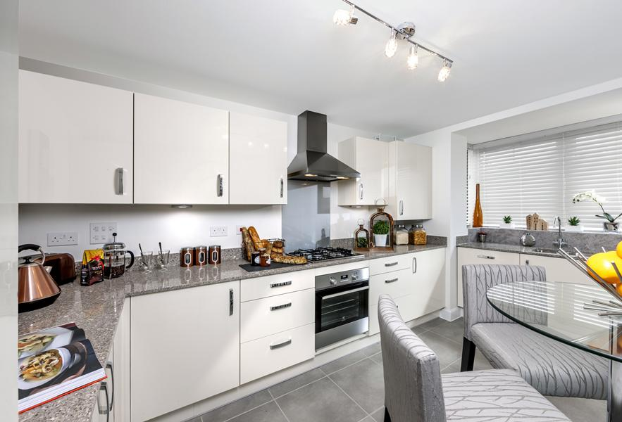 Show home kitchen at Beaufort Place,Crawley