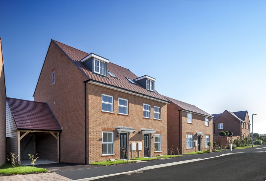 Traditional new homes at Martello Lakes, Hythe