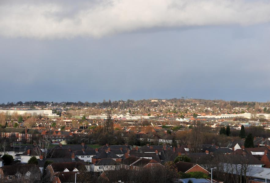 Views of Wolverhampton from the top of Horizon