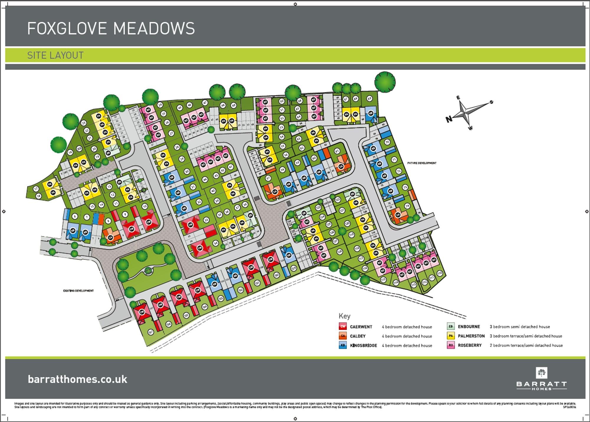 Foxglove Meadows Phase 1 Site plan