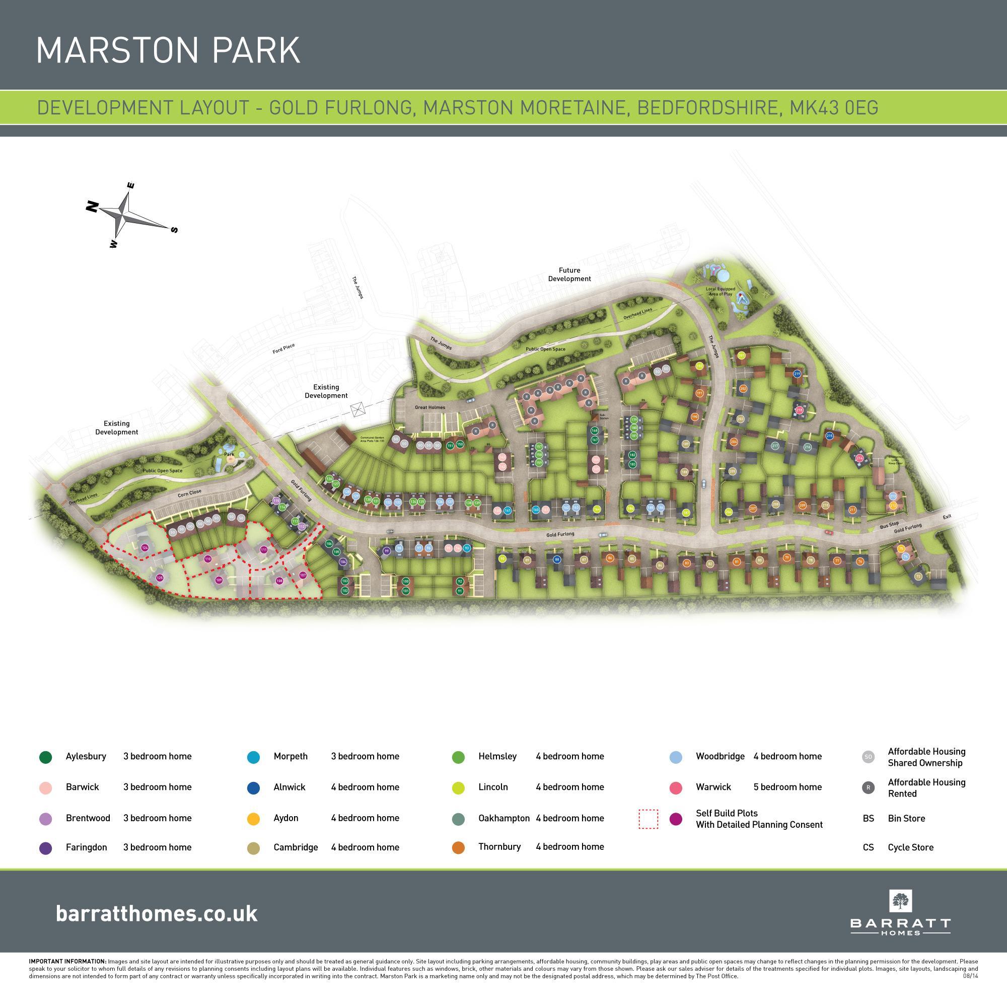 Marston Park site plan