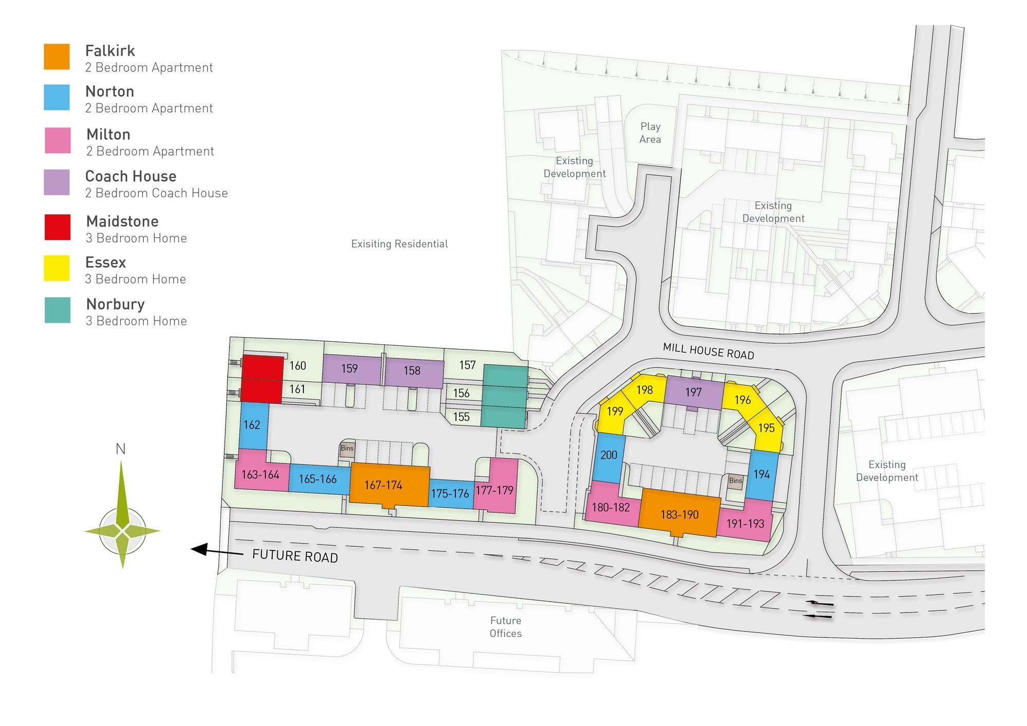 Development layout - Phase 1
