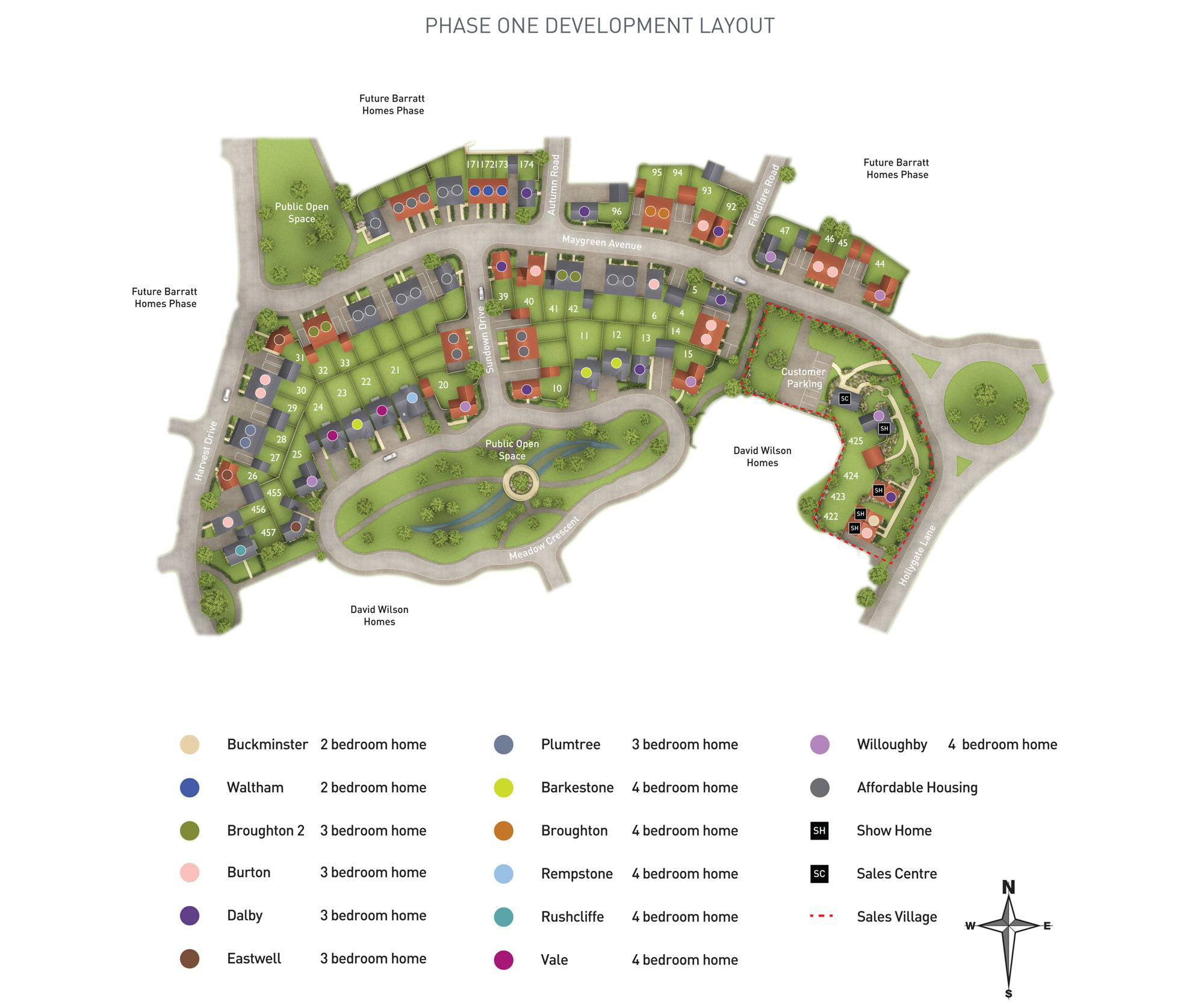 Hollygate Park Site Plan