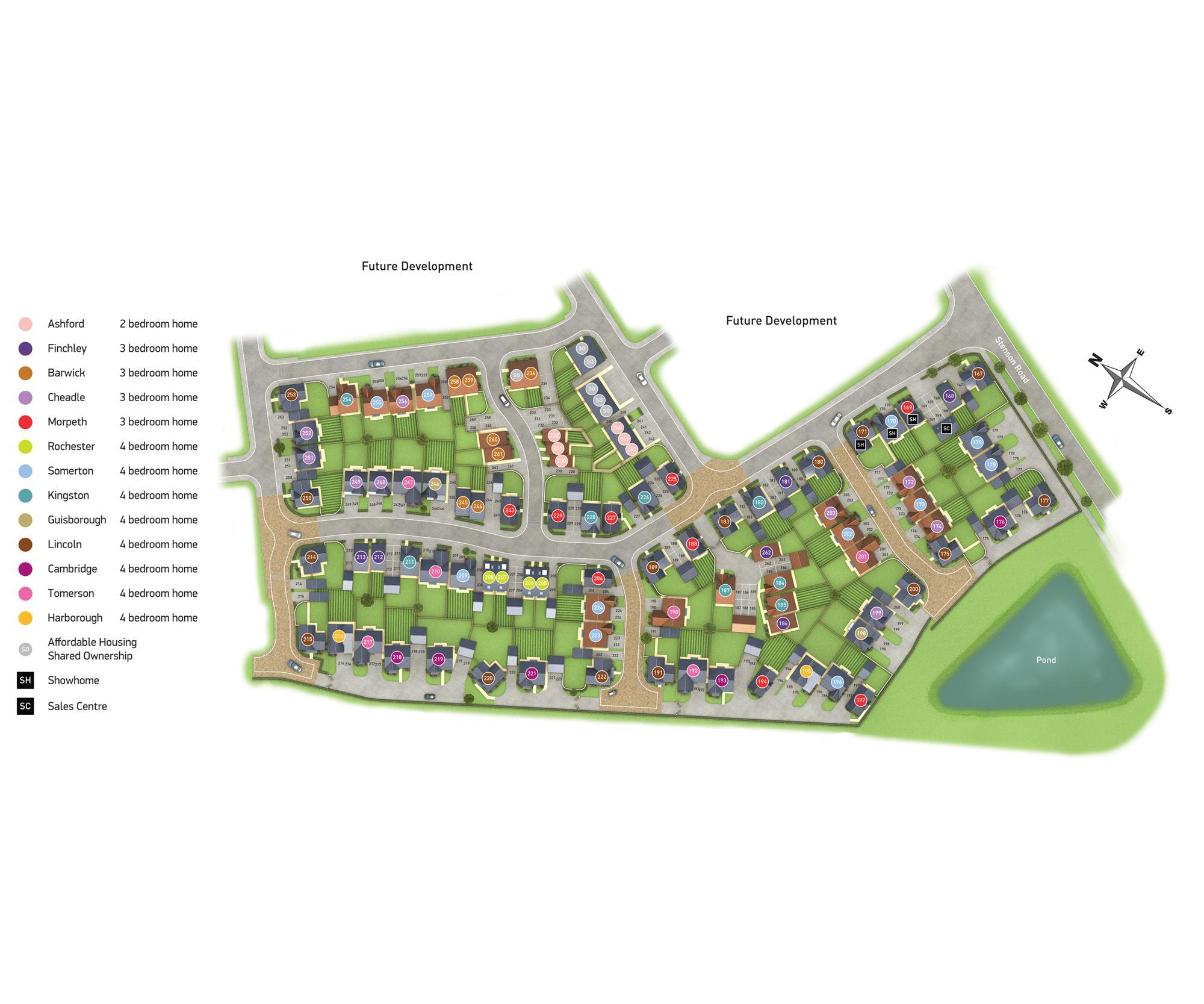 Newton Village site plan Phase 1