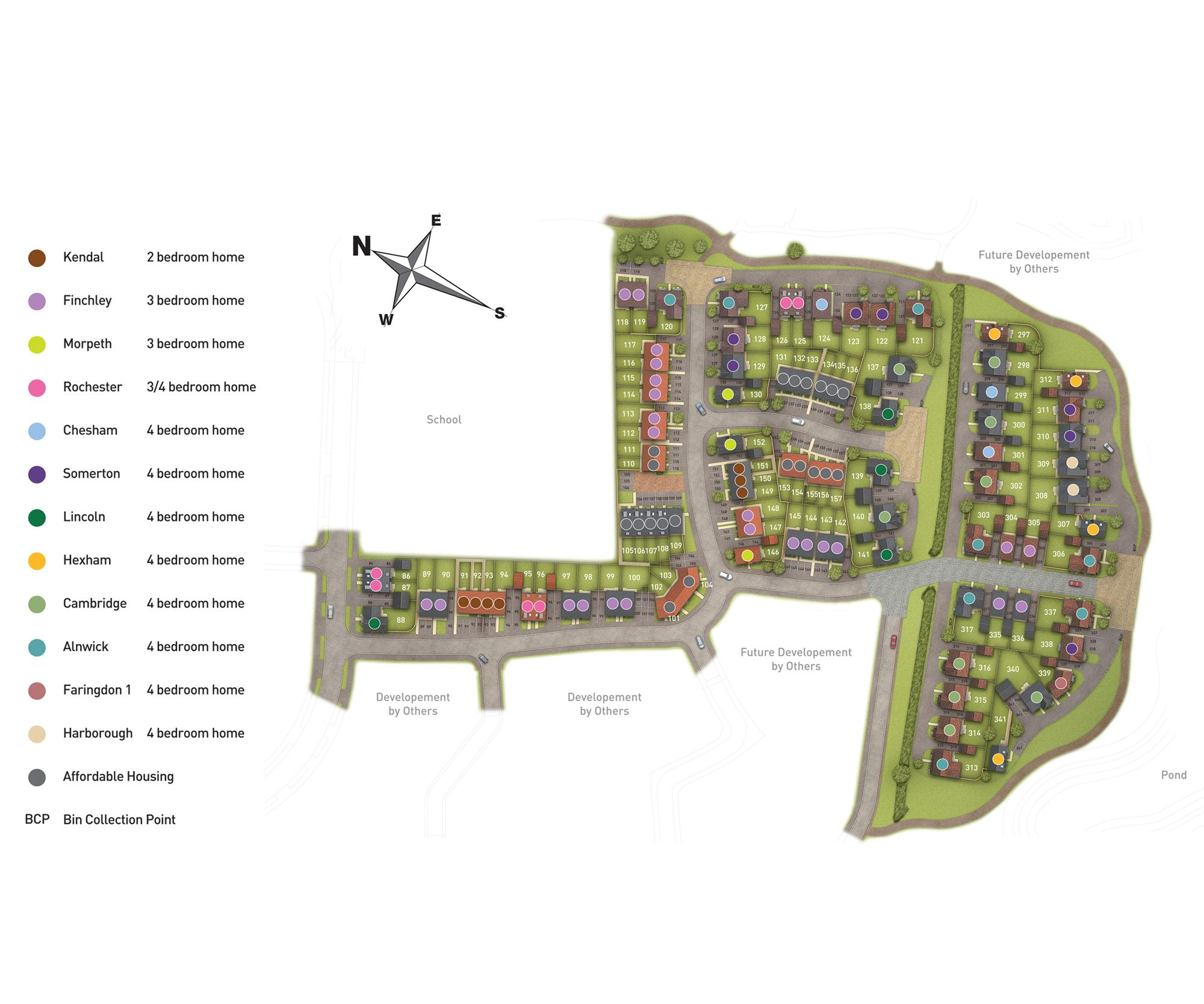 Highfields site plan Phase 2 and 3