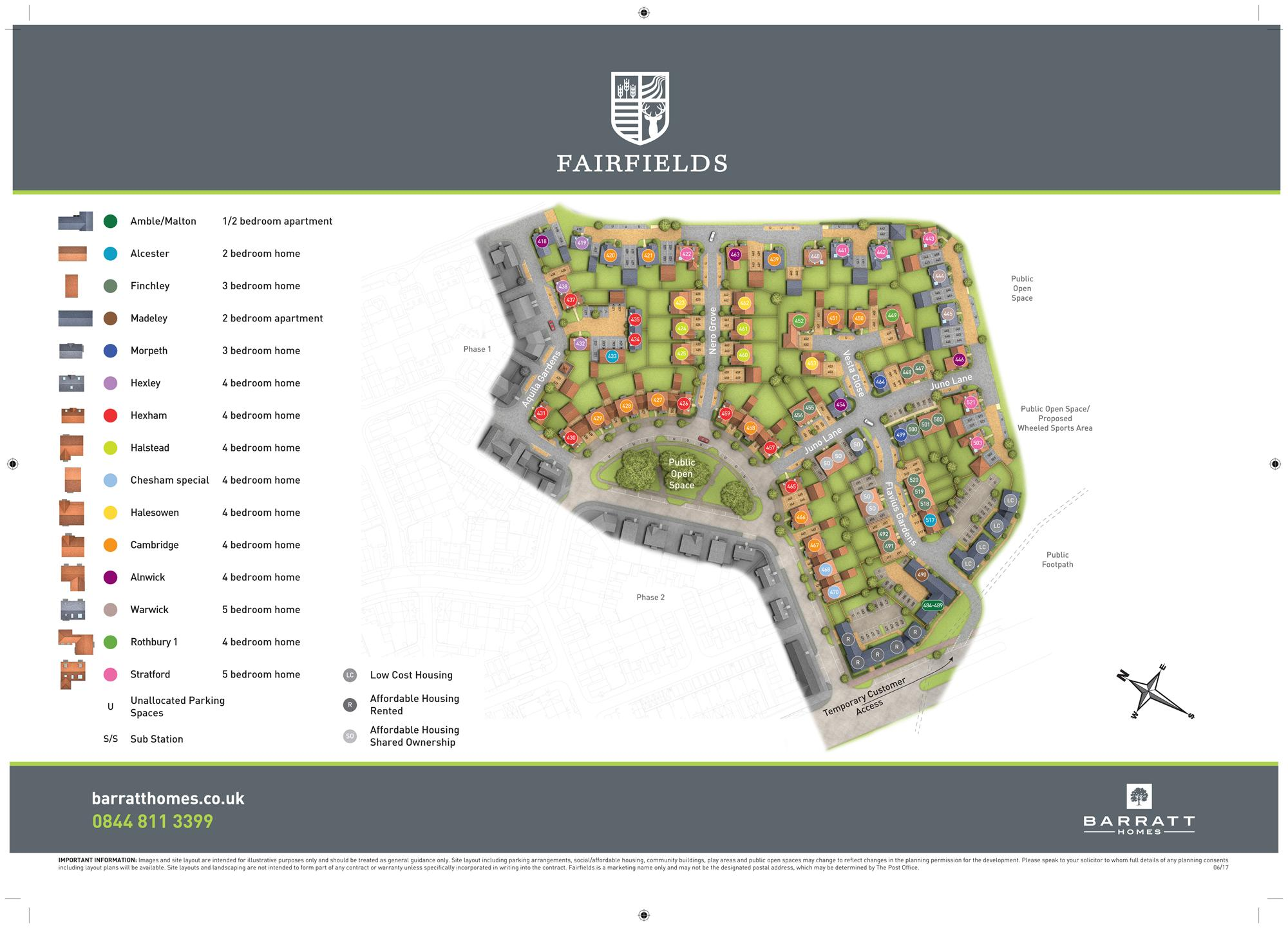 Fairfields Phase 3 Site Map