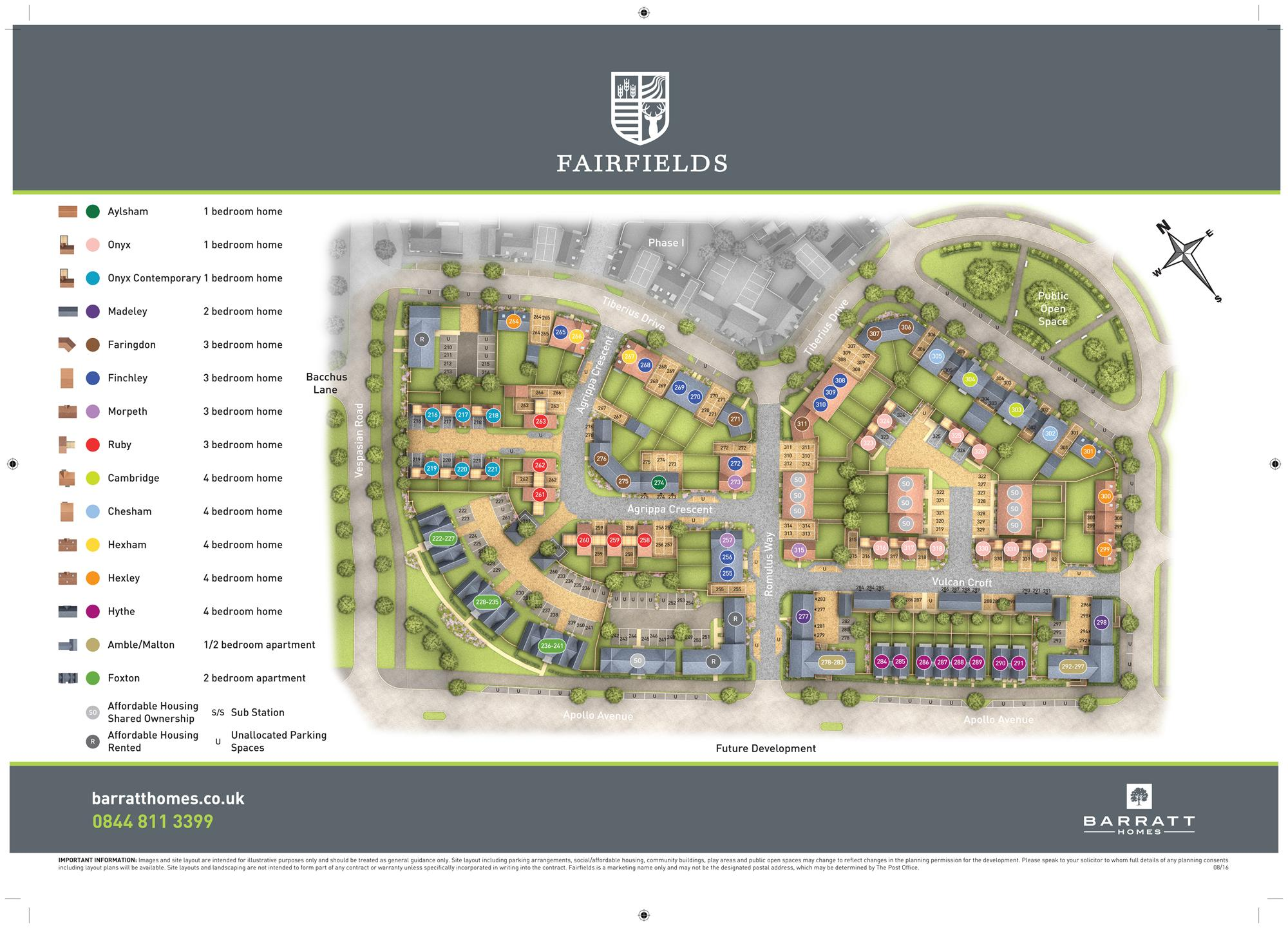Fairfields Phase 2 site map
