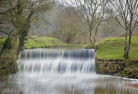 The River Bollin Waterfall