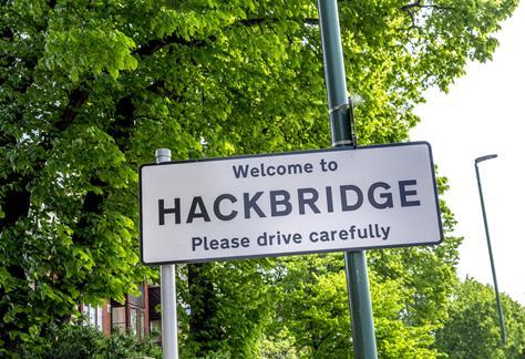 Hackbridge signage