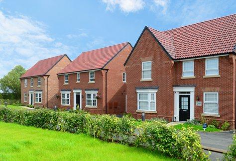 Example david wilson homes street scene