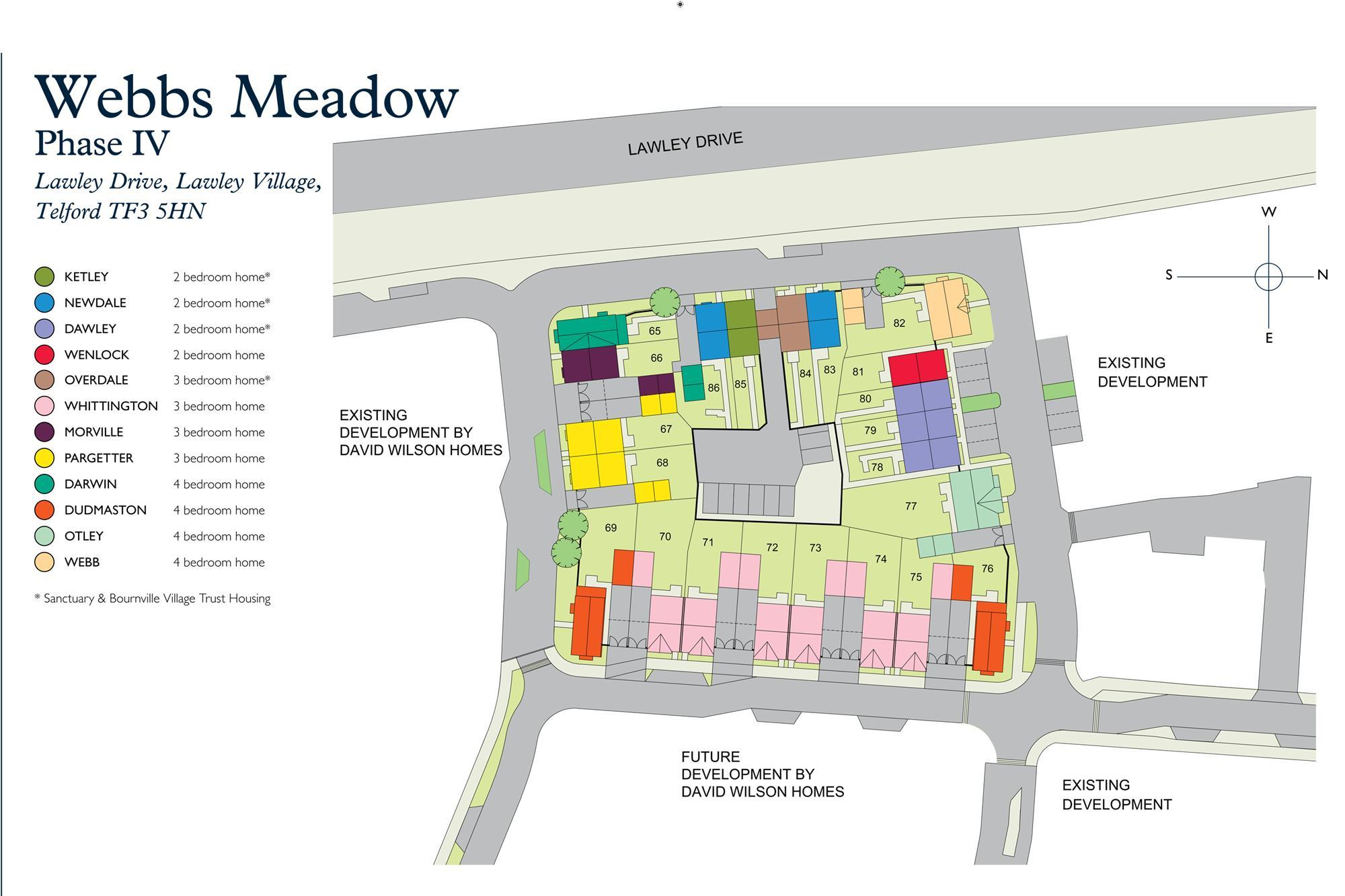 Webbs Meadow site plan