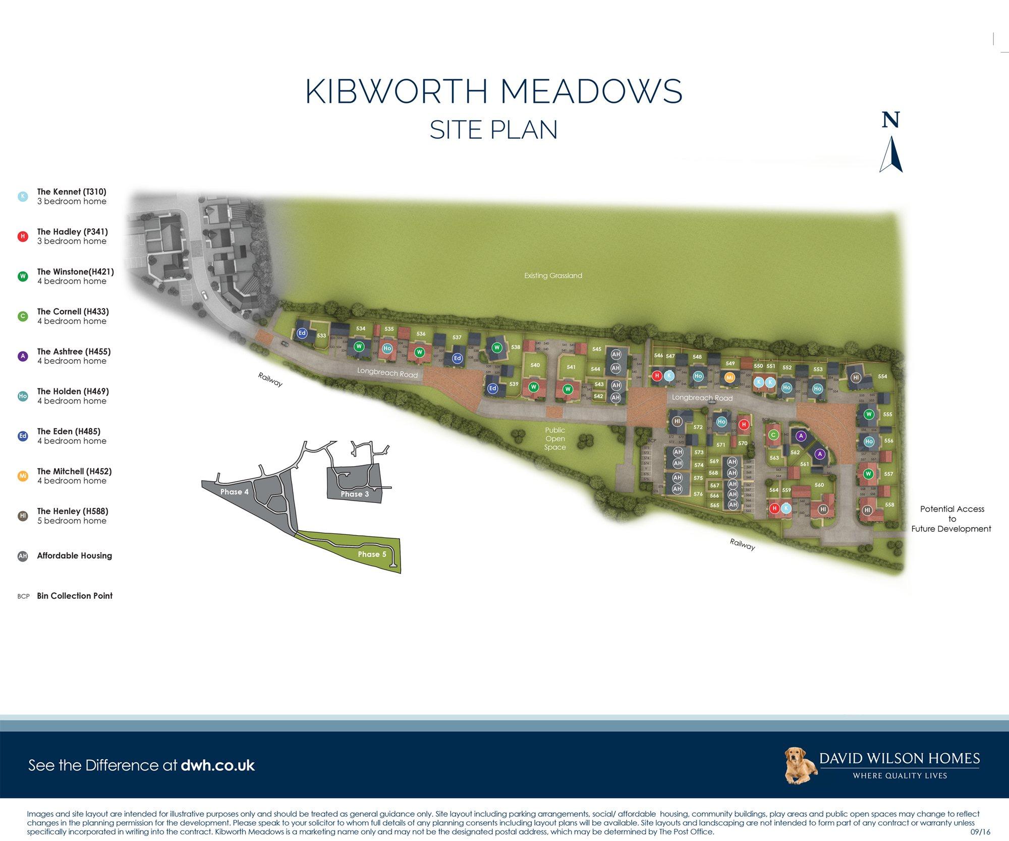 Kibworth Meadows site plan