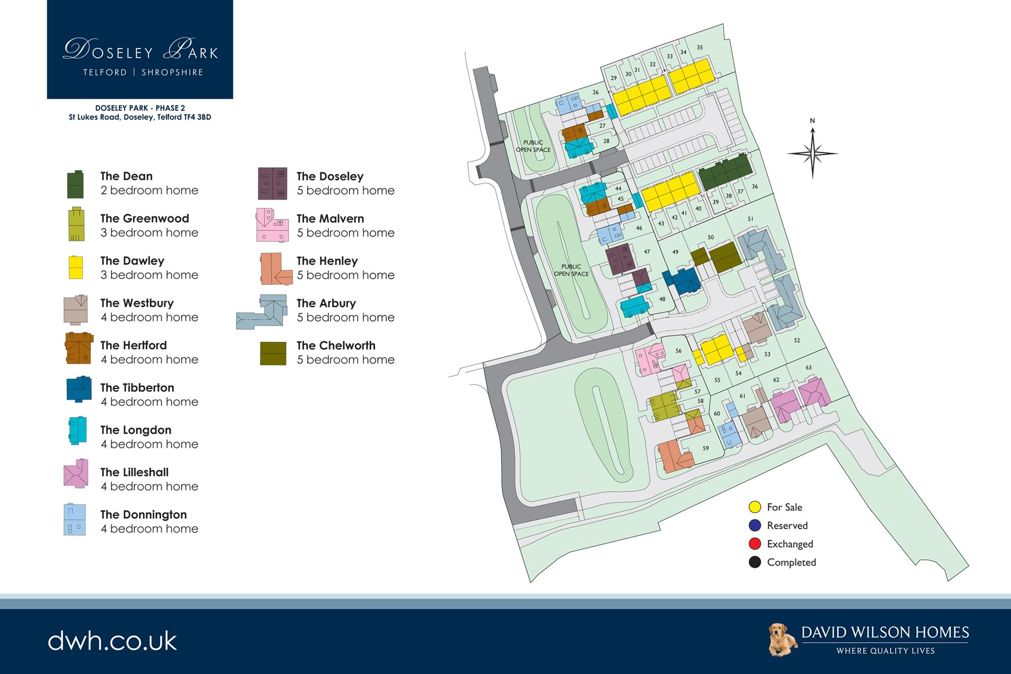 Doseley Park phase 2 site plan
