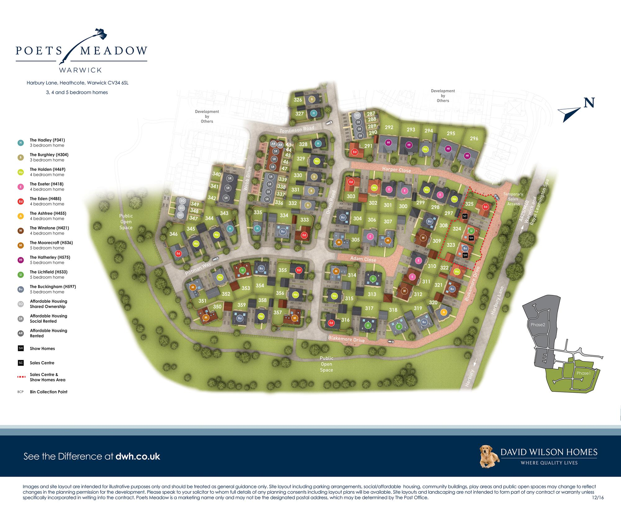 Poets Meadow site plan phase 1