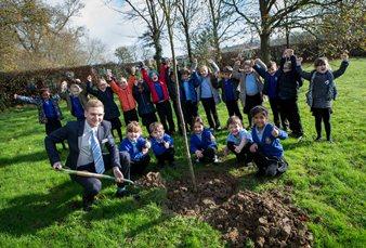 Long Mead Community school tree planting.